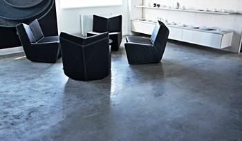 Skladba betonové podlahy