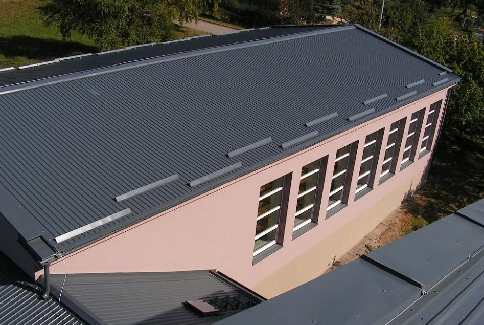 Oprava střechy průmyslového objektu