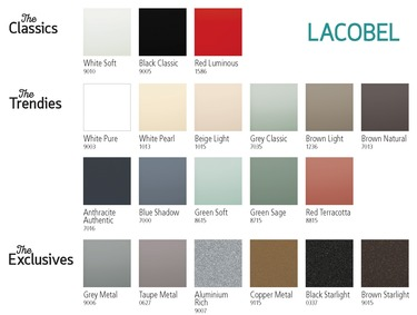 Lacobel 20-20 – colour range