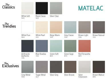 Matelac 20-20 – colour range