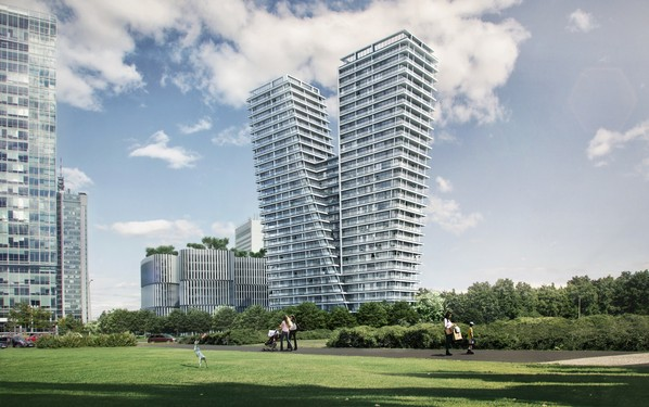 Residential building V Tower in Prague. Photo: PSJ Invest