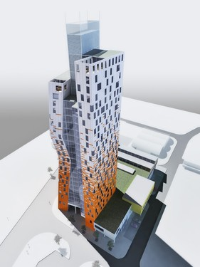 Visualization of AZ Tower. Source: www.wienerberger.cz